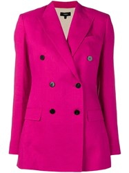 Theory Double Breasted Blazer Pink