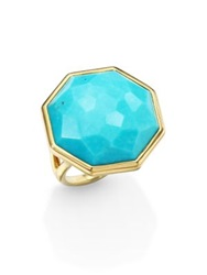 Ippolita Rock Candy Turquoise And 18K Yellow Gold Large Octagon Ring Gold Turquoise