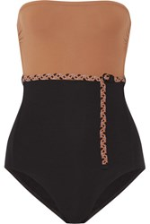 Eres Veronique Leroy Sterling Belted Bandeau Swimsuit Black