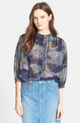 Women's See By Chloe Print Oversize Blouse