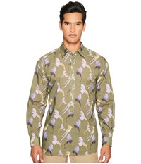 Missoni Printed Birds Button Up Green Men's Clothing