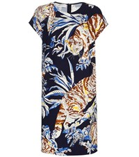 Stella Mccartney Printed Crepe Shift Dress Multicoloured