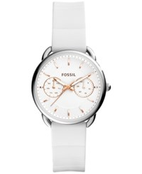 Fossil Women's Tailor White Silicone Strap Watch 35Mm Es4223