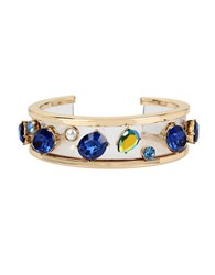 Betsey Johnson Anchors Away 5Mm Round Pearl Multicolor Cuff Bracelet