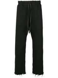 R 13 R13 Frayed Drop Crotch Trousers Brown