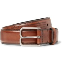 Berluti 3Cm Brown Polished Leather Belt