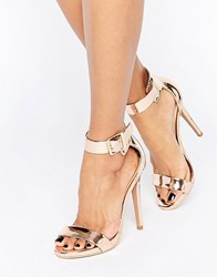 Truffle Collection Barely There Sandal Copper