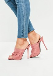 Missguided Pink Knot Detail Mule Sandals