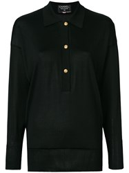 Chanel Vintage Long Sleeved Knitted Blouse Black