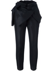 Dsquared2 Ruffle Detail Tailored Trousers Black