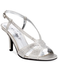 Rampage Fashika Mid Heel Dress Sandals Women's Shoes Silver