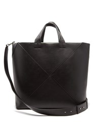 Bottega Veneta Intrecciato Panelled Leather Tote Bag Black