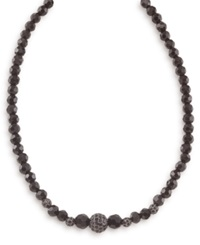 Carolee Necklace Graduated Jet And Crystal Fireball