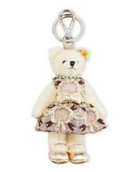 Prada Linda Bear Keychain With Party Dress Multi