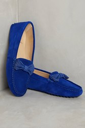 Anthropologie Bobbies La Craquante Suede Loafers Blue