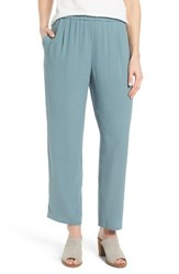 Eileen Fisher Women's Silk Georgette Crepe Straight Ankle Pants