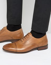 Red Tape Lace Up Brogue Smart Shoes In Tan