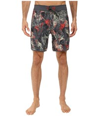 The North Face Whitecap Boardshorts Short Spruce Green Pineapple Print Men's Swimwear Gray