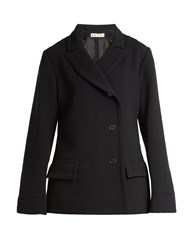 Marni Notch Lapel Double Crepe Jacket Black