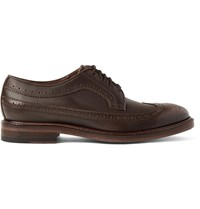 Paul Smith Lucien Leather Wingtip Brogues Brown