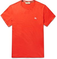 Burberry Cotton Jersey T Shirt Red