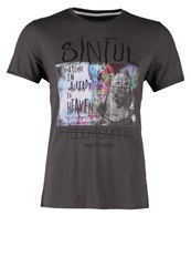 Teddy Smith Sinful Print Tshirt Moon Grey