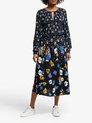 John Lewis Collection Weekend By Alexandra Floral Midi Dress Black Multi