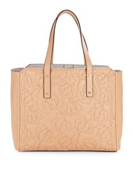 Ivanka Trump Floral Quilted Tote Camel