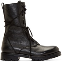 Helmut Lang Bleak Leather Combat Boots