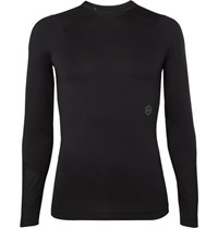 Under Armour Ua Rush Compression Mesh Panelled Stretch Tech Jersey T Shirt Black