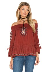 Saylor Reanna Top Burnt Orange