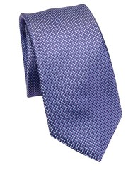 Saks Fifth Avenue Collection Woven Silk Tie Purple