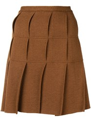 Jean Paul Gaultier Vintage 1990'S Pleated Kilt Skirt Brown