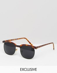Reclaimed Vintage Retro Sunglasses Brown