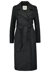 Minimum Jea Classic Coat Charcola Dark Grey