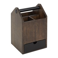 Umbra Toto Tall Storage Box Black Walnut