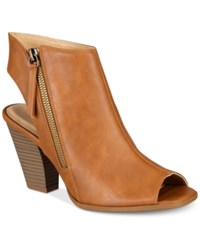 Esprit Belize Block Heel Dress Sandals Cognac