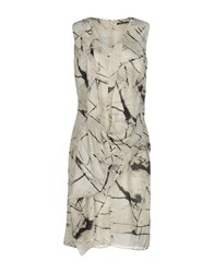 Malloni Knee Length Dresses Ivory