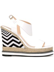 Nicholas Kirkwood 'Leda' Wedge Sandals White