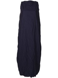 Daniela Gregis Crease Effect Balloon Dress Blue