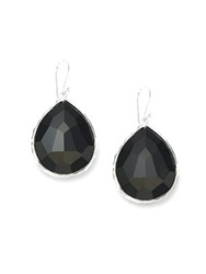 Ippolita Rock Candy Black Onyx And Sterling Silver Large Teardrop Earrings