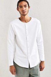 Publish Aydan Terry Buttoned Long Sleeve Tee White