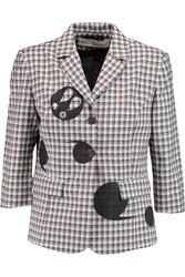 Golden Goose Abby Checked Wool Blazer White