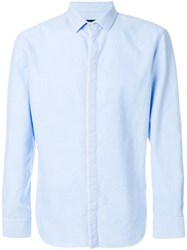 Emporio Armani Slim Fit Classic Shirt Cotton Blue