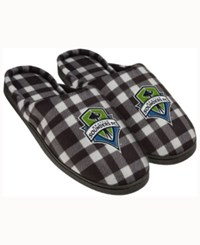 Forever Collectibles Seattle Sounders Fc Flannel Slide Slippers Green
