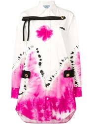Prada Tie Dye Shirt Dress White