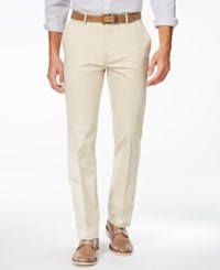 Alfani Red Men's Sateen Flat Front Pants Only At Macy's