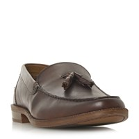Howick Pentecos Classic Tassle Loafer Shoes Brown