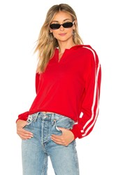 By The Way Gia Cropped Hoodie Red