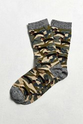 Urban Outfitters Camo Dachshund Sock Green